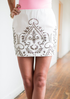 Perfectly Beaded Mini Skirt CLEARANCE