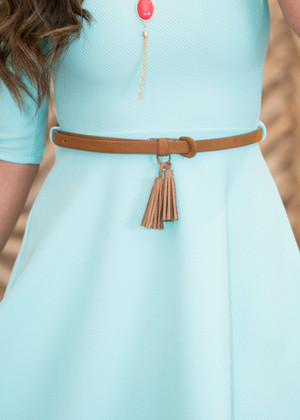 Brown Belt with Tassel CLEARANCE