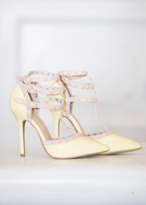 Triple Decker Edge Heels Yellow CLEARANCE
