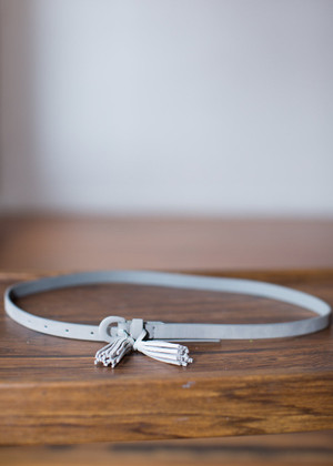 Gray Belt with Tassel