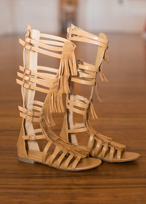 Legendary Gladiator Sandals Tan CLEARANCE
