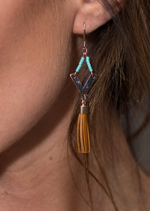 Tasseled Around Earrings Mint