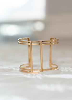 Geometric Gold Bangle CLEARANCE