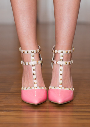 Double Decker Edge Heels Bubblegum