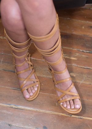Partners in Crime Gladiator Sandals Tan CLEARANCE