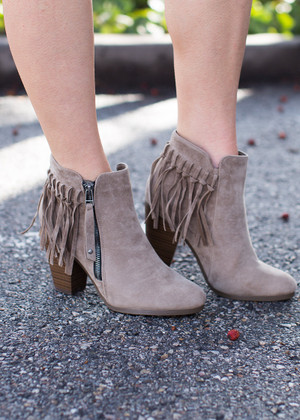 A Taste of Fringe Bootie CLEARANCE