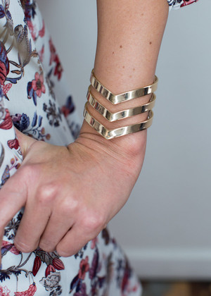 On Point Gold Cuff
