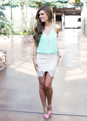 Hide and Go Chic Skirt White CLEARANCE