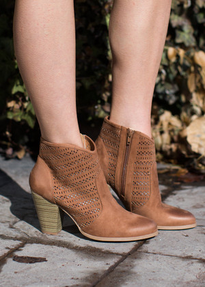 In All the Right Places Booties Camel CLEARANCE