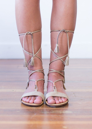 Through Kick and Thin Gladiator Sandals