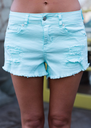 A Fine Foundation Shorts Aqua CLEARANCE