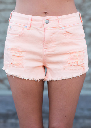 A Fine Foundation Shorts Peach CLEARANCE