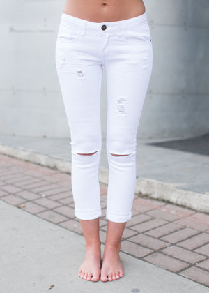 The Celine White Jean CLEARANCE