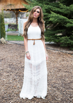 Say I Do Lace Dress White CLEARANCE