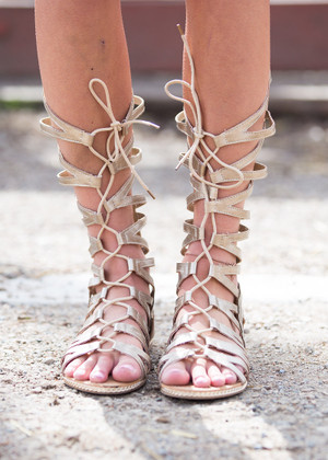 Wrapped Around You Gold Gladiator Sandals CLEARANCE