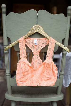 Laced Racerback Bralette Apricot CLEARANCE
