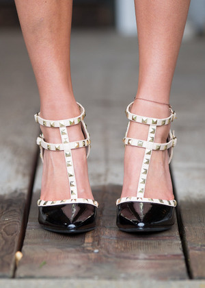 Double Decker Edge Heels Black CLEARANCE