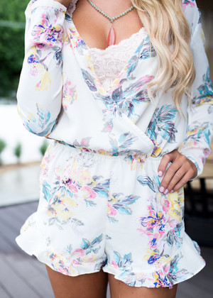 Flowers in My Dream Romper Ivory CLEARANCE