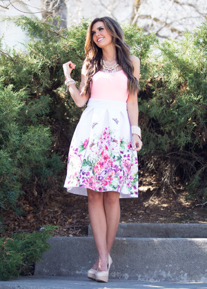 The Butterfly Effect Skirt White
