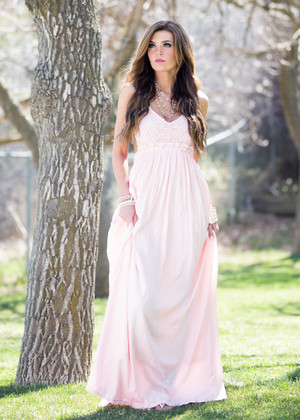 To Have and to Hold Maxi Dress Light Pink