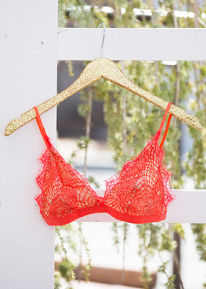 Pretty Little Thing Lace Bralette Red Orange CLEARANCE