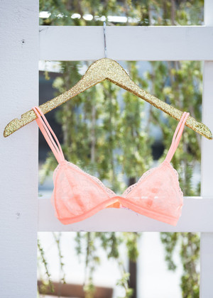 Small Detail Bralette Neon Orange CLEARANCE
