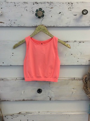 Electric Pink Workout Crop Top CLEARANCE