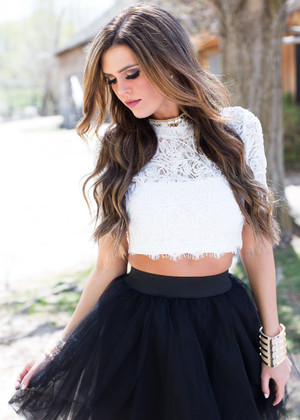 I Love a Little Lace Top CLEARANCE