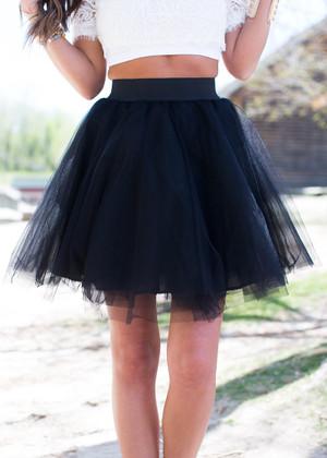 On Point Tulle Skirt Black