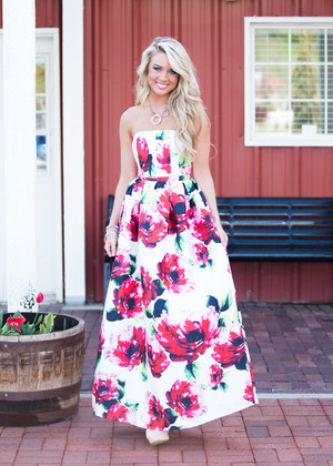 The Way Love Grows Floral Two Piece Dress Set