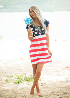 All Alright Star/Stripe Dress