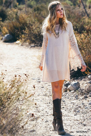 As Long As You Love Me Lace Dress Cream CLEARANCE