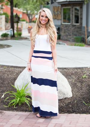 Stacking Stripes Maxi Skirt