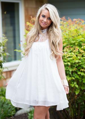 Charlotte Lace Dress White