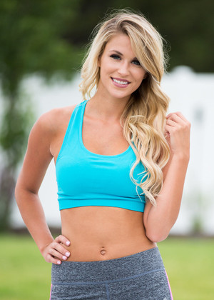 Blue Racerback Sports Bra
