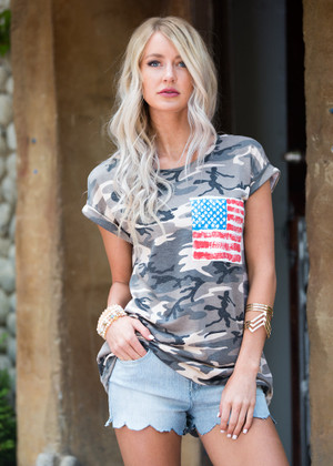 Americana All Over Top Camo