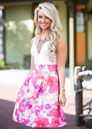 Bubbly and Gorgeous Floral Skirt