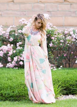 Most Beautiful Floral Maxi Dress Blush