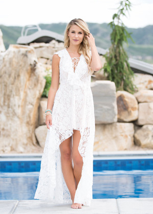 What Dreams are Made of Lace High Low Dress
