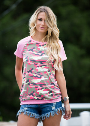 You Won't Find This Top Pink Camo CLEARANCE