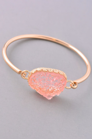 Elegant Stone Charm Bracelet Rose