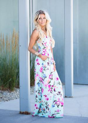 Floral Dream Tube Maxi Dress