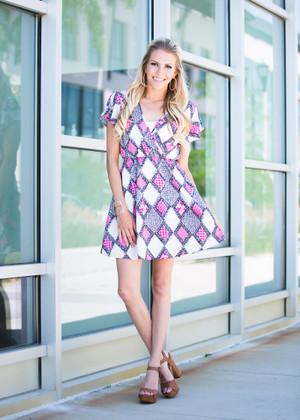 Summer Standout Diamond Dress CLEARANCE