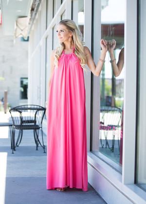 Plain Jane Halter Maxi Pink CLEARANCE