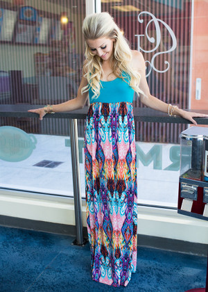 Lose My Mind Tank Maxi Turquoise CLEARANCE