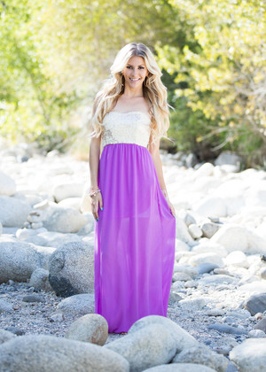Give Me Praise Maxi Dress Lavender