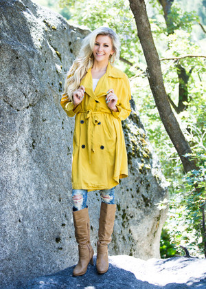 Can't Rain on My Parade Thin Trench Coat Mustard CLEARANCE