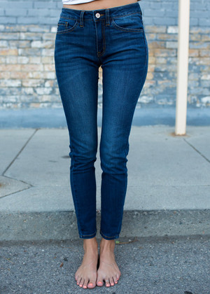 Super Skinny Dark Denim Jeans CLEARANCE