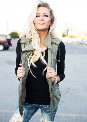 Olive Aztec Back Hooded Vest CLEARANCE