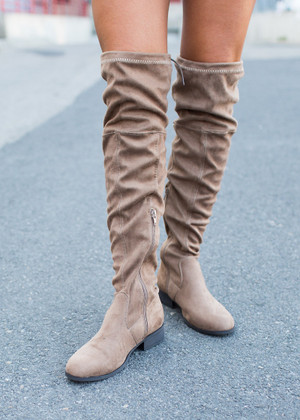 Been Around the Block Over the Knee Boots Tan